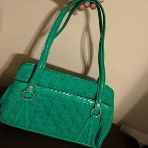 Vera Bradley quilted green purse